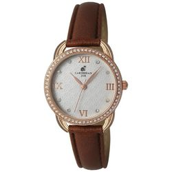 Caribbean Joe Womens Rose Gold Tone Roman Numerals