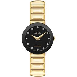 Nicole Miller Black Sunray Dial Diamond Watch