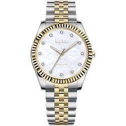 Nicole Miller Two Tonbe MOP Bracelet Watch