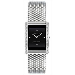 Nicole Miller Diamond Rectangle Mesh Band Watch