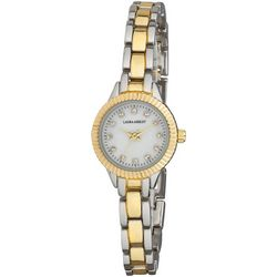 Laura Ashley Womens Two Tone Coin Edge Watch