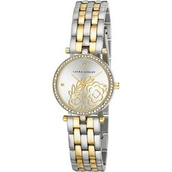 Laura Ashley Womens Two Tone Floral Face Watch