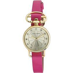 Laura Ashley Womens Gold Tone Heirloom Watch