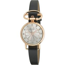 Laura Ashley Womens Rose Gold Tone Heirloom Watch
