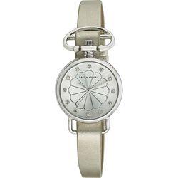 Laura Ashley Womens Silver Tone Heirloom Watch