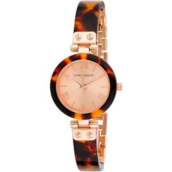 Laura Ashley Tortoise Resin Rose Tone Watch