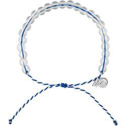 4ocean Blue & White Beaded Bracelet