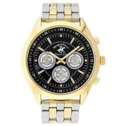Beverly Hills Polo Club Mens Two Tone Texture Watch