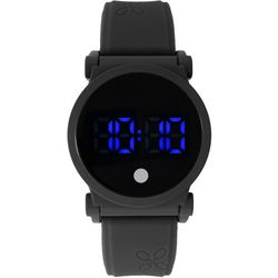 Classic Time Womens Black Round LED Touch Watch