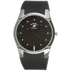 Beverly Hills Polo Club Mens Rubber Strap Round Dial Watch