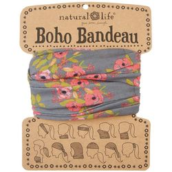 Natural Life Charcoal Blooms Boho Bandeau