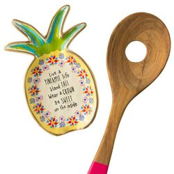 Natural Life Live A Pineapple Life Spoon Rest