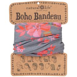 Natural Life Womens Grey Floral Bloom Boho Bandeau