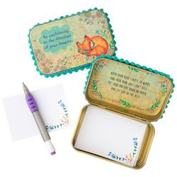 Natural Life Go Confidently Teal & Gold Tone Prayer Box