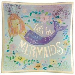 Natural Life Let's Be Mermaids Glass Tray