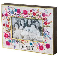 Natural Life 4'' x 6'' Floral Print Family Frame