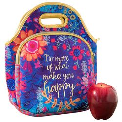Natural Life Makes You Hy Fl Print Lunch Bag