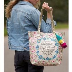 Natural Life Good Thoughts Shine Tote Handbag
