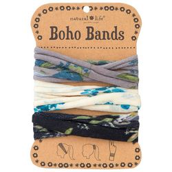 Natural Life Womens Blue Floral Combo Boho Bands