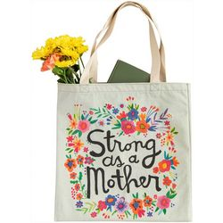 Natural Life Strong As A Mother Canvas Tote Bag