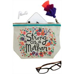 Strong As A Mother Canvas Cosmetic Bag