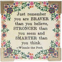 Natural Life Braver Stronger Smarter Magnet