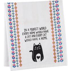 Natural Life Flour Sack Cat Towel