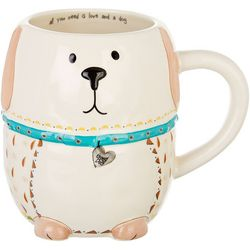 Natural Life Dog Folk Art Mug