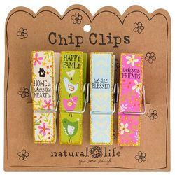 Natural Life Home Is Where The Heart Is Chip Clip Set