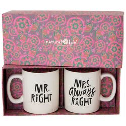 Natural Life 2-pc. Mr Right & Mrs Always Right Mug Set