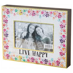 Natural Life 4'' x 6'' Live Happy Picture Frame