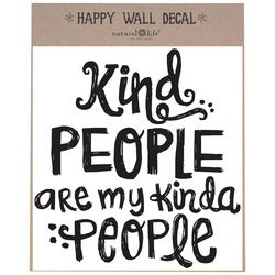 Natural Life Kind People Happy Wall Decal