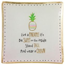Natural Life Live A Pineapple Life Glass Tray