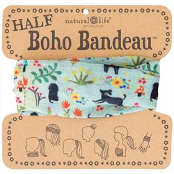 Natural Life Womens Floral & Dog Print Half Boho Bandeau