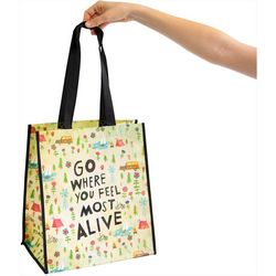 Natural Life Go Where You Feel Most Alive Grocery Tote Bag