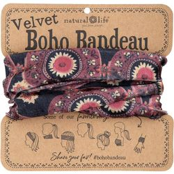 Natural Life Womens Medallion Half Velvet Boho Bandeau