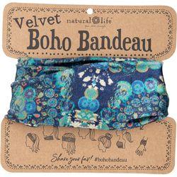 Natural Life Womens Blue Half Velvet Boho Bandeau