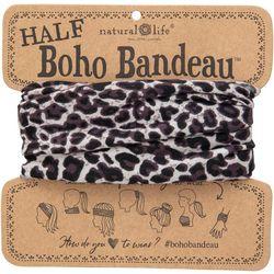 Natural Life Womens Leopard Print Half Boho Bandeau