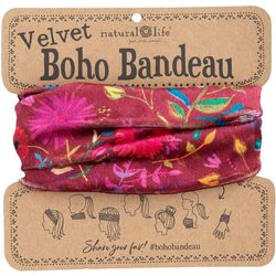 Natural Life Womens Berry Wild Flowers Half Boho Bandeau