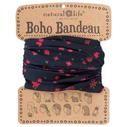 Natural Life Womens Red Floral Boho Bandeau