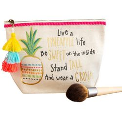 Natural Life Pineapple Life Canvas Cosmetic Bag