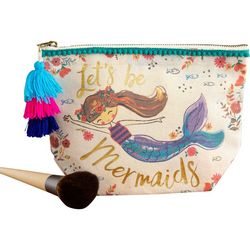 Natural Life Let's Be Mermaids Canvas Cosmetic Pouch