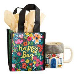 Natural Life Floral Print Happy Bag  Small Gift Bag
