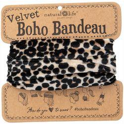 Natural Life Leopard Print Velvet Boho Bandeau