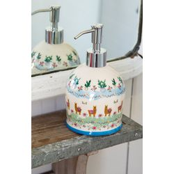 Natural Life Llama & Cactus Ceramic Pump Soap Dispenser