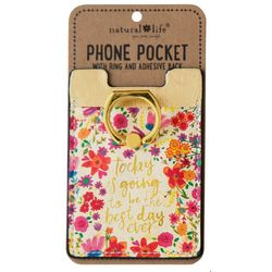 Natural Life Best Day Ever Phone Pocket & Ring