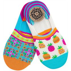 Natural Life Womens 2-pk. Pineapple Print No Show Socks