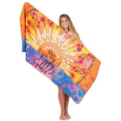 Natural Life My Happy Place Beach Towel