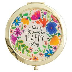 Natural Life Be Happy Today Compact Mirror