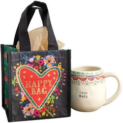 Natural Life Heart Happy Bag  Small Gift Bag